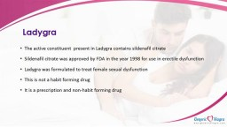 Female Dysfunction Treatment with Ladygra
