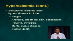 Symptoms and Treatment of Hypercalcemia