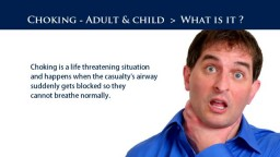 Adult First Aid Training - Choking