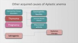 Aplastic anemia: causes, diagnosis and managment