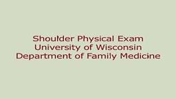FULL Shoulder Exam by University of Winsconsin