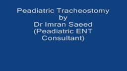 paediatric tracheostomy