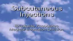 Subcutaneous Injection