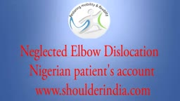 Neglected elbow dislocation treatment
