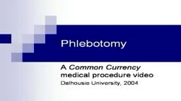 Phlebotomy Drawing Blood from Veins