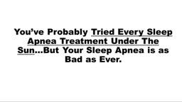 Sleep Apnea Treatment Exercises Cure