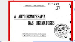 Doctoral thesis defended AUTO-HEMOTHERAPY ALREADY IN 1924