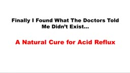 Acid Reflux Treatment Homemade
