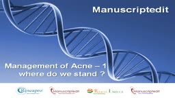 Management of Acne (Part - 1)