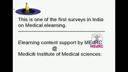 Medical Elearning survey India.