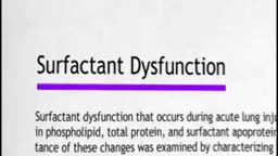 Surfactant Dysfunction
