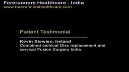 Irish natives cervical fusion surgery in India.