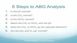 Easy Steps to ABG Analysis