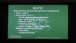 Slipped Capital Femoral Epiphysis (SCFE)