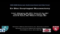 Esophageal En Bloc Mucosectomy